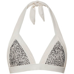 Textiel Dames Bikinibroekjes- en tops Beachlife Sprinkles  Triangle Swimsuit Top Parelmoer Zwart-wit