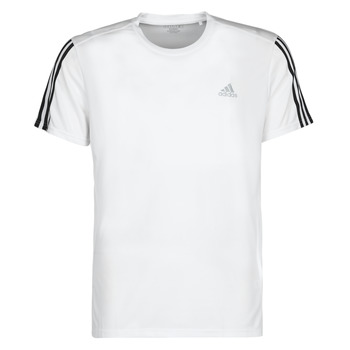 Textiel Heren T-shirts korte mouwen adidas Performance RUN IT TEE 3S M Wit