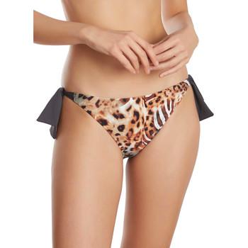 Textiel Dames Bikinibroekjes- en tops Selmark Lage taille geknoopte zwempakkousen Animal  Mare Paars