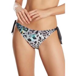 Textiel Dames Bikinibroekjes- en tops Selmark Lage taille geknoopte zwempakkousen Animal  Mare Blauw Turquoise