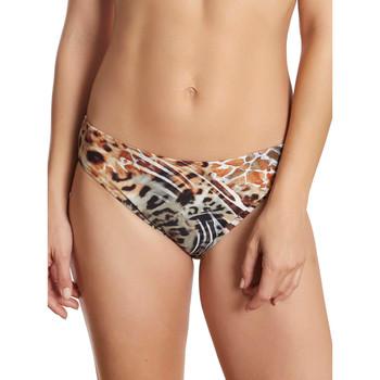 Textiel Dames Bikinibroekjes- en tops Selmark Bikini Zwempakkousen Dierlijke -merrie Paars