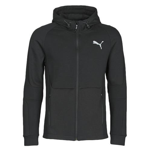 Textiel Heren Trainings jassen Puma EVOSTRIPE FZ HOODY Zwart