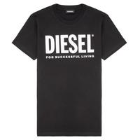 Textiel Kinderen T-shirts korte mouwen Diesel TJUSTLOGO Zwart