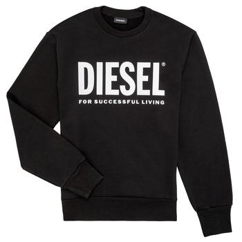 Textiel Jongens Sweaters / Sweatshirts Diesel SCREWDIVISION LOGO Zwart