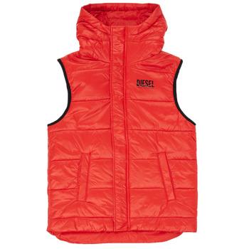 Textiel Jongens Dons gevoerde jassen Diesel JSUNNY Rood