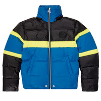 Textiel Jongens Dons gevoerde jassen Diesel JMARTOS Zwart / Blauw / Geel