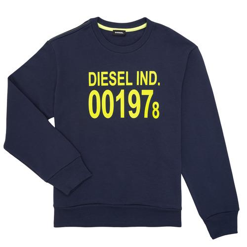 Textiel Kinderen Sweaters / Sweatshirts Diesel SGIRKJ3 Blauw