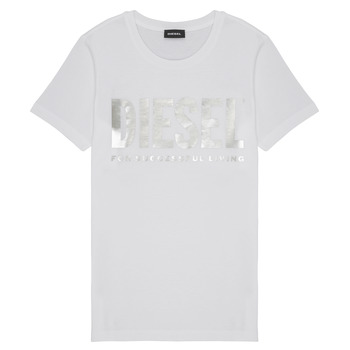Textiel Meisjes T-shirts korte mouwen Diesel TSILYWX Wit
