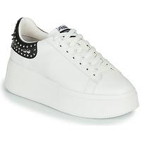 Schoenen Dames Lage sneakers Ash MOBY STUDS Wit / Zwart
