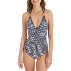 Textiel Dames Badpak Selmark Rombos  Mare 1-delig driehoekig zwempak met meerdere Blauw