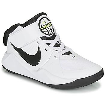 Schoenen Jongens Basketbal Nike TEAM HUSTLE D 9 PS Wit / Zwart