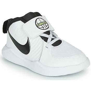 Schoenen Jongens Basketbal Nike TEAM HUSTLE D 9 TD Wit / Zwart