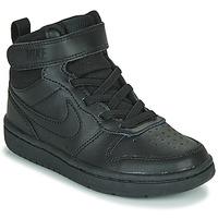 Schoenen Kinderen Hoge sneakers Nike COURT BOROUGH MID 2 PS Zwart
