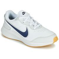 Schoenen Jongens Lage sneakers Nike VARSITY LEATHER GS Wit / Blauw