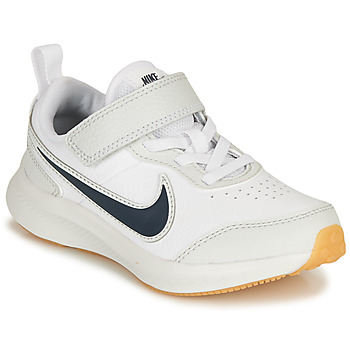 Schoenen Jongens Lage sneakers Nike VARSITY LEATHER PS Wit / Blauw