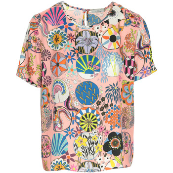 Textiel Dames T-shirts korte mouwen Ps By Paul Smith Top Roze