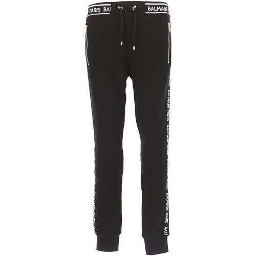 Textiel Heren Trainingsbroeken Balmain RH15631 Zwart