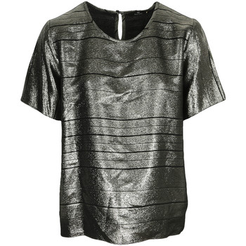 Textiel Dames Tops / Blousjes Paul Smith Top col rond ample lamé Swirl Zwart