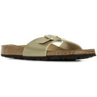 Schoenen Dames Leren slippers Birkenstock Madrid Bs Goud