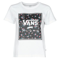 Textiel Dames T-shirts korte mouwen Vans BOXED IN BOXY Wit