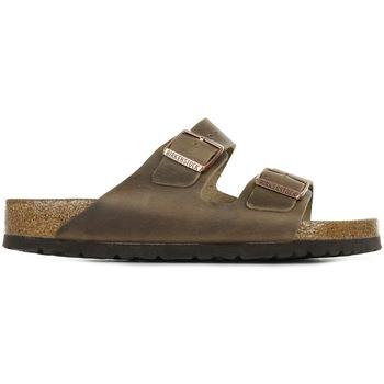 Schoenen Heren Leren slippers Birkenstock Arizona BS Bruin