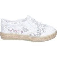 Schoenen Meisjes Instappers Asso slip on tessuto Bianco