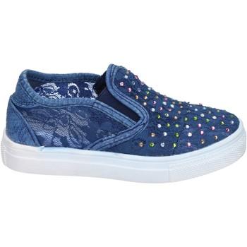 Schoenen Meisjes Instappers Asso slip on tessuto Blu
