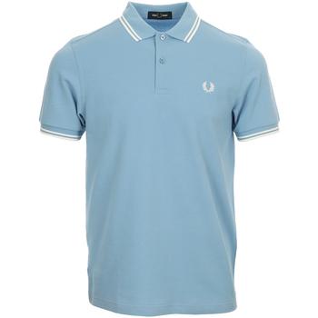 Textiel Heren Polo's korte mouwen Fred Perry Twin Tipped  Shirt Blauw