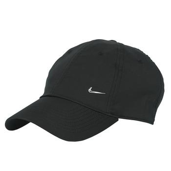Accessoires Pet Nike U NSW H86 METAL SWOOSH CAP Zwart / Zilver