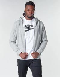 Textiel Heren Sweaters / Sweatshirts Nike M NSW CLUB HOODIE FZ BB Grijs