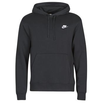 Textiel Heren Sweaters / Sweatshirts Nike M NSW CLUB HOODIE PO BB Zwart / Wit