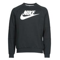 Textiel Heren Sweaters / Sweatshirts Nike M NSW MODERN CRW FLC HBR Zwart / Wit