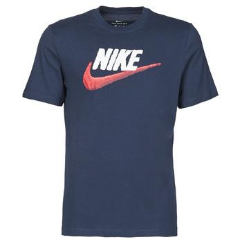 Textiel Heren T-shirts korte mouwen Nike M NSW TEE BRAND MARK Blauw