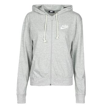 Textiel Dames Sweaters / Sweatshirts Nike W NSW GYM VNTG HOODIE FZ Grijs