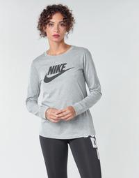 Textiel Dames T-shirts met lange mouwen Nike W NSW TEE ESSNTL LS ICON FTR Grijs