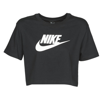 Textiel Dames T-shirts korte mouwen Nike W NSW TEE ESSNTL CRP ICN FTR Zwart