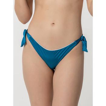 Textiel Dames Bikinibroekjes- en tops Luna Homonoia  Braziliaanse geknoopte zwempakkousen Blauw