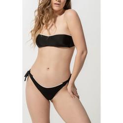 Textiel Dames Bikinibroekjes- en tops Luna Homonoia  Braziliaanse geknoopte zwempakkousen Parelmoer Zwart