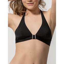 Textiel Dames Bikinibroekjes- en tops Luna Beugel driehoekig badpak topje zonder beugel Homonoia Parelmoer Zwart