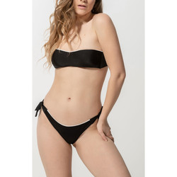 Textiel Dames Bikinibroekjes- en tops Luna Homonoia  Removable Shells Bandeau Swimsuit Top Parelmoer Zwart