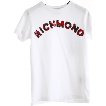 Textiel Meisjes T-shirts korte mouwen Richmond Kids RGP20129TS White black