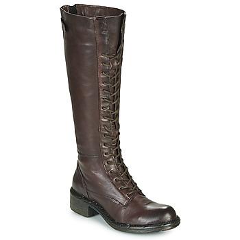 Schoenen Dames Hoge laarzen Dream in Green NUCRE Bruin