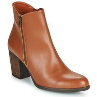 Schoenen Dames Enkellaarzen Dream in Green NACHOU Camel