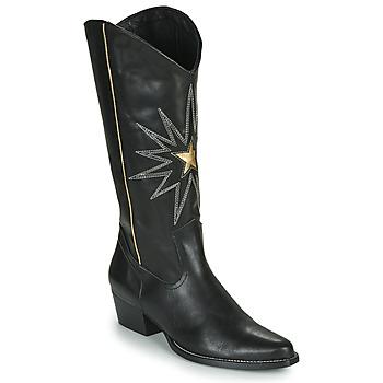 Schoenen Dames Hoge laarzen Fericelli NISCOME Zwart / Goud