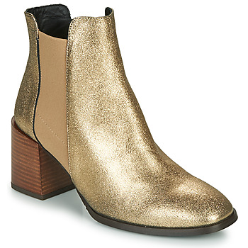 Schoenen Dames Enkellaarzen Fericelli NIOCHE Goud