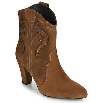 Schoenen Dames Enkellaarzen Fericelli NARLOTTE Camel / Goud