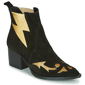 Schoenen Dames Enkellaarzen Fericelli NAUSSON Zwart / Goud