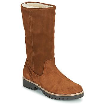 Schoenen Dames Hoge laarzen Casual Attitude NESCAGO Camel