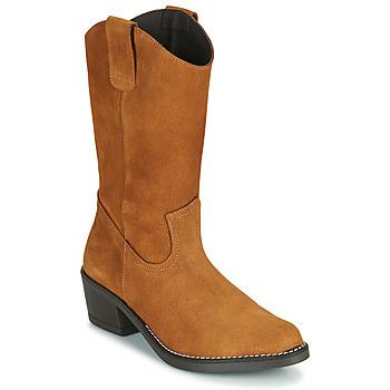Schoenen Dames Hoge laarzen Casual Attitude NESCARGO Camel