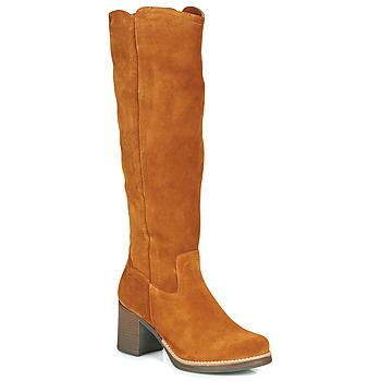 Schoenen Dames Hoge laarzen Casual Attitude HAPI Camel